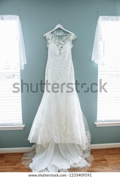 Brides White Wedding Skirt Dress Customized Stock Photo Edit Now