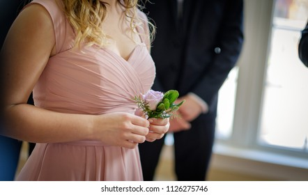 Bridesmaid with flower