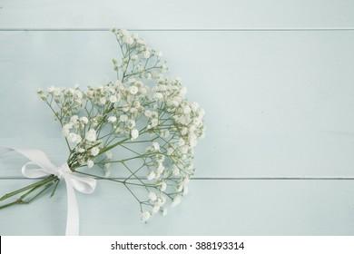 Bridesmaid's baby's breath bouquet