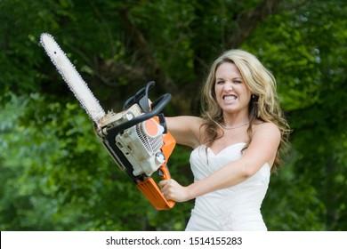 Bridezilla - Bride with Chainsaw