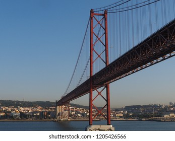 bridge of the 25 april in lisboa, portugal