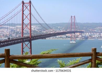 Bridge 25 april in Lisbon, Portugal