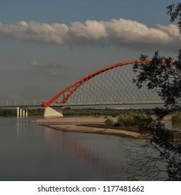 Bridge above Ob in Novosibirsk