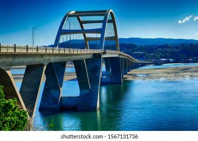 Bridge across Alsea River in  Waldport, Oregon