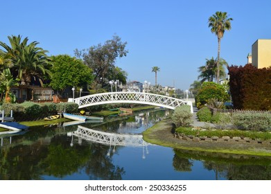 The bridge across the canal in Venice Beach, California.