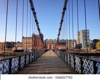 Bridge across the Clyde in Glasgow, Scotland
