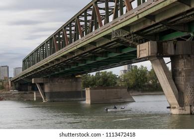 Bridge across Danube River, Serbia