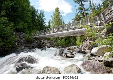 Bridge Across Glacial Stream