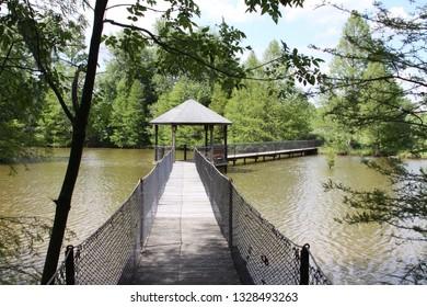 Bridge across lake waters in Kentucky.