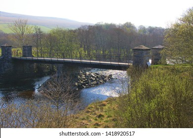 A bridge across the River Naver in Strathnaver, a valley in North Scotland, UK.