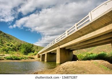 Bridge across a river. Shot in Montagu, Western Cape, South Africa.