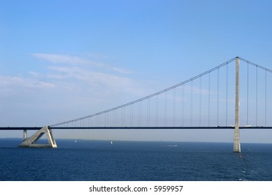 Bridge across Storebelt in Denmark