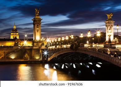 Bridge of the Alexandre III, Paris