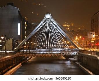 Bridge in Andorra la Vella. Andorra