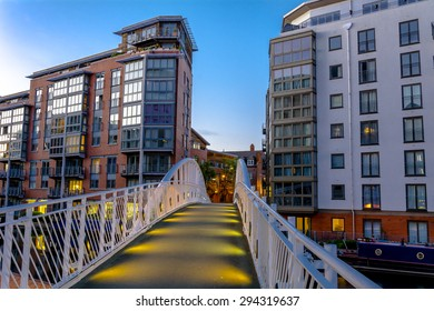 A bridge to apartment blocks