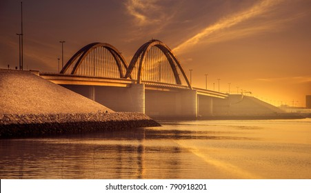 A bridge in Bahrain (Sky added in)