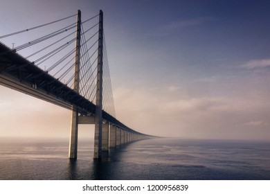 The Øresund bridge between Sweden and Denmark