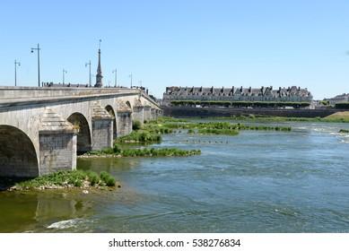 Bridge in Blois, Loire, France