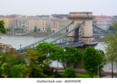 The bridge in Budapest. Hungarian Attractions.
