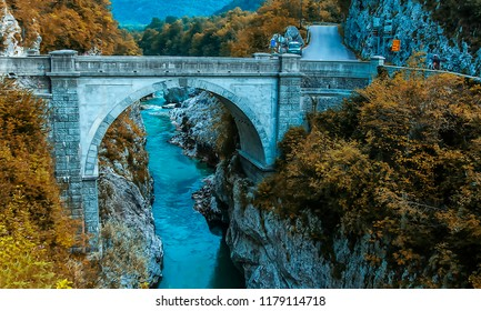 Bridge builded from Napoleon's soldiers