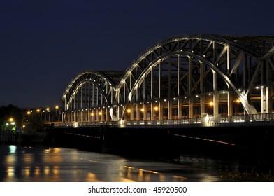 Bridge by night.