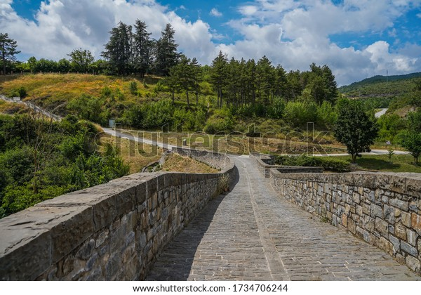 Bridge in Camino de Santiago. Aoiz, village of Navarra,Spain