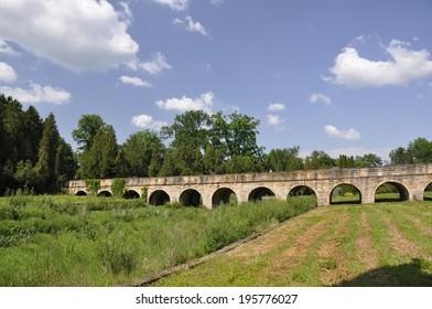 Bridge to Castle (Zamek) Krasickich, Poland