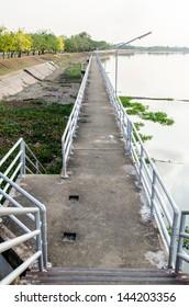 Bridge at Chaopraya dam, Thailand.