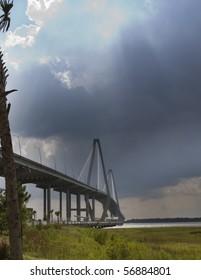 bridge in Charleston SC during storm