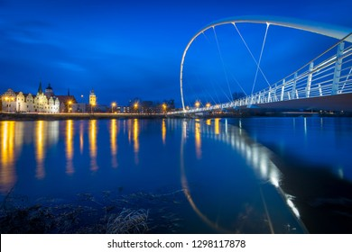 Bridge and cityscape in Dessau, Germany