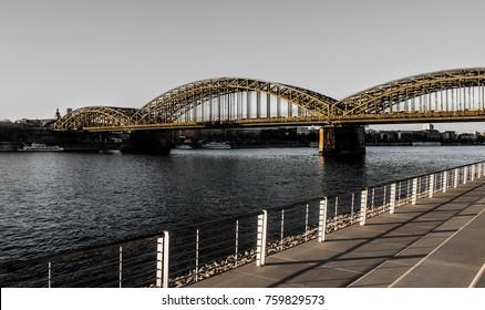 bridge cologne black white