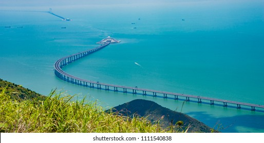 The Bridge connecting Zhuhai to Hong Kong and Macau of china