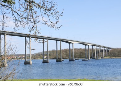 The Bridge connects Funen with Taasinge and Langeland.