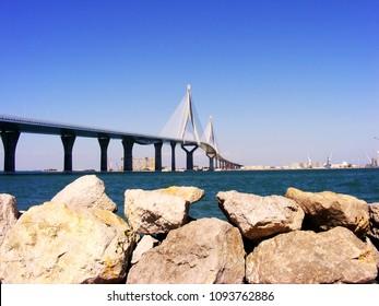 Bridge of the Constitution, called La Pepa, in the bay of Cádiz, Andalusia. Spain. Europe