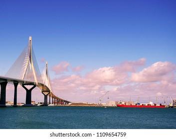 Bridge of the Constitution, called La Pepa, in the bay of Cádiz, Andalusia. Spain