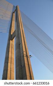 Bridge construction. Architectural background