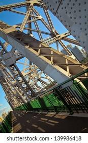 Bridge construction in Brisbane city, Australia