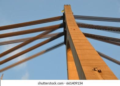 Bridge construction. City architecture
