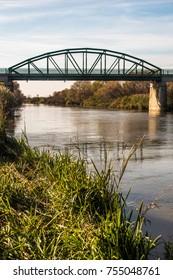 bridge, countryside, river