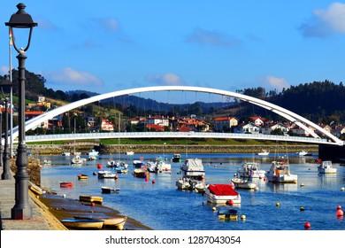 Bridge crossing the beach