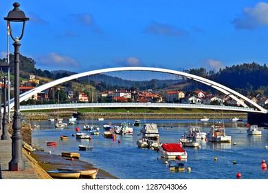 Bridge crossing the beach HDR