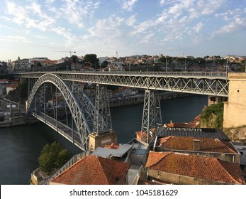 Bridge crossing Duoro River in Porto, Portugal