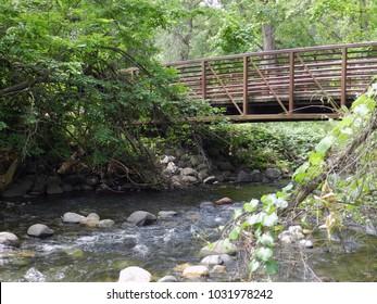 Bridge crossing over Big Chico Creek in Bidwell Park Chico California
