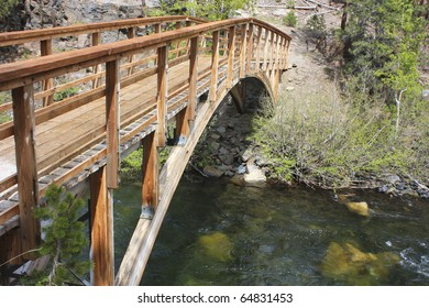 Bridge in Devil's Postpile National Monument, California.