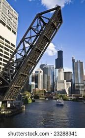 Bridge to Downtown - Chicago, IL.