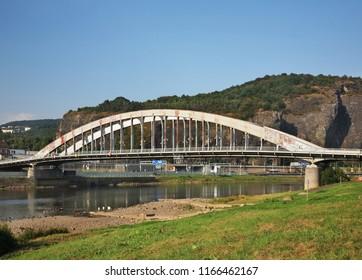 Bridge of Dr. E. Benese over Elbe river in Usti nad Labem. Czech Republic