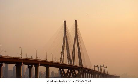 bridge during sunset