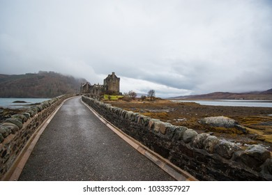 Bridge to the EIlean Donan castle in scotland.