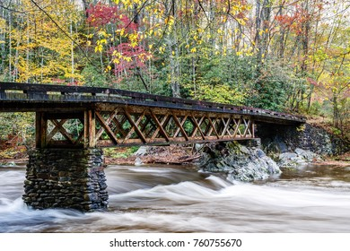 Bridge at Elkmont in Great Smoky Mountains National Park in Fall