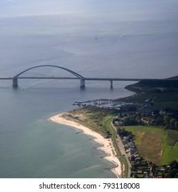 Fehmarnsundbrücke - Bridge in Fehmarn in Baltic Sea (Fehmarn Sound Bridge)